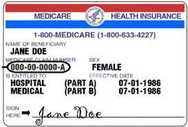 Medicare Red White Blue Card